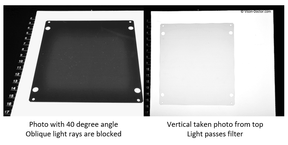 Effect of light control film